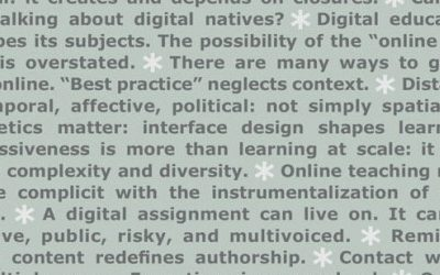 Countdown: The Manifesto for Teaching Online book is out in September